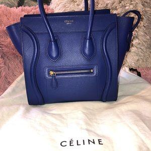 Celine Mini Luggage Colbalt Blue Bag Handbag Purse